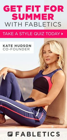 Get Moving With Fabletics by Kate Hudson. Your First Activewear Outfit From ONLY £20! Fabletics is Where #FitnessMeetsFashion. Take Our Quick Lifestyle Quiz to Discover Workout Outfits and For This Exclusive Offer!