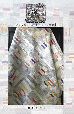 This is the newest beyond the reef pattern!Mochi is a great easy pattern.Sample shown is with Jen Kingwell fabrics.20 x 60 and 60 x 60 sizes included.