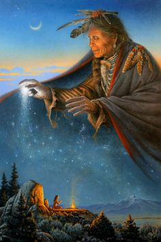 Oh Great Spirit who made all races. Look kindly upon the whole human family and take away the arrogance and hatred which separate us from our brothers. —Cherokee Prayer [Artwork by Charles Frizzell]