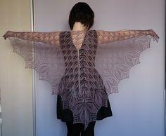 Lace shawl. Haruni pattern.