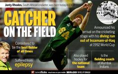 A catcher on the field #JontyRhodes was born on July 27,1969