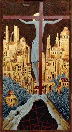 Cimabue: The crucifixion Religious Images, Religious Icons, Religious Art, Byzantine Icons, Byzantine Art, Christian Images, Christian Art, Jesus Art, Biblical Art