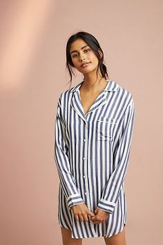 Eberjey Womens Cotton Stripes Halter Tank Pajama Top