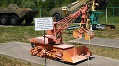 A museum of robotic equipment used during the Chernobyl disaster