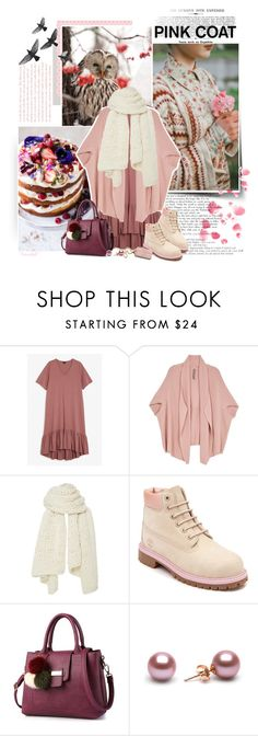"""From Winter to Spring"" by frouwelinde ❤ liked on Polyvore featuring Monki, Melissa McCarthy Seven7, I Love Mr. Mittens, Timberland and plus size clothing"