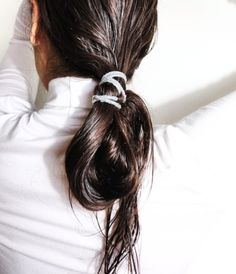 Long hair. Wet. Low ponytail, twisted and looped. | LA COOL & CHIC