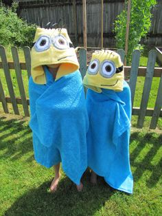 Hey, I found this really awesome Etsy listing at http://www.etsy.com/listing/154284196/childrens-minion-hooded-towel