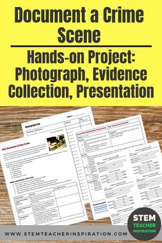 Forensics: Document a Crime Scene Science Curriculum, Science Classroom, Science Lessons, Science Projects, Life Science, Teaching Activities, Teaching Science, Stem Activities, Teaching Technology