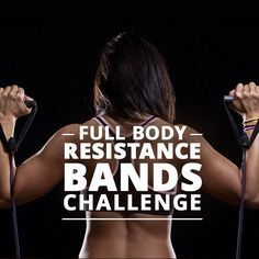 Try the Full-Body Resistance Bands Challenge Workout for a full head-to-toe workout! Resistance bands really get you a phenomenal workout! #resistancebands