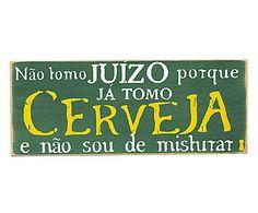 Box Decorativo Não Tomo Cerveja - 30x12cm