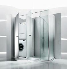 box doccia con lavatrice al posto della vasca