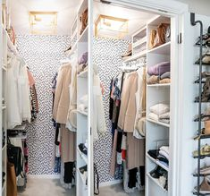 21 Best Small Walk-in Closet Storage Ideas for Bedrooms Small Closet Storage, Bedroom Closet Storage, Small Closet Space, Small Closet Organization, Master Bedroom Closet, Small Closets, Organizing Ideas, Diy Organization, Master Suite