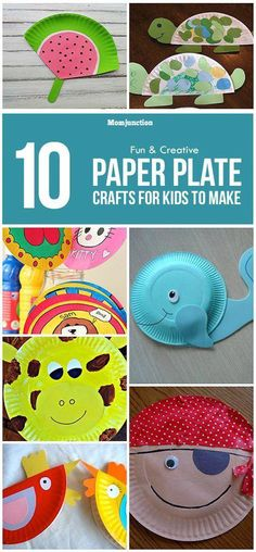 10 Easy And Exciting Ideas For Paper Plate Crafts For Kids #Easycrafts Paper Plate Art, Paper Plate Crafts For Kids, Crafts For Kids To Make, Craft Activities For Kids, Paper Plates, Kids Crafts, Art For Kids, Arts And Crafts, Craft Ideas