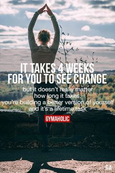 It Takes 4 Weeks For You To See Change #fitness #motivation #workout