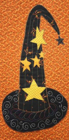 """Detail, """"After Midnight"""" block of the month at Our Common Threads"""