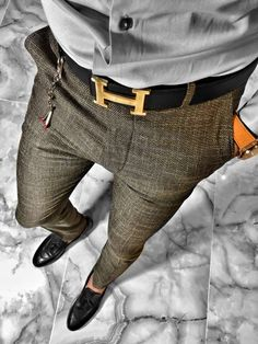 Mens Dress Outfits, Formal Men Outfit, Formal Suits, Men Dress, Casual Outfits, Best Casual Shirts, Smart Casual Wear, Marriage Dress For Men, Mens Plaid Pants