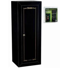 Stack-On 14-Gun Cabinet with Door Storage, Matte Black NEW  Organizer #StackOn