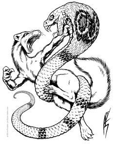 Cobra and Mongoose by ~joeartguy on deviantART