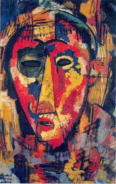"""Amadeo de Souza Cardozo - """"A máscara de olho verde"""" - 1915"""