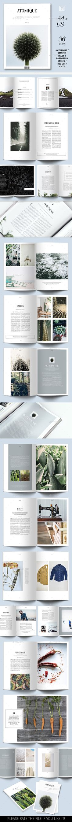 Atomique Magazine Template - Magazines Print Templates Download here : https://graphicriver.net/item/atomique-magazine-template/19230413?s_rank=144&ref=Al-fatih