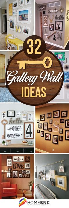 We're always looking for cheap and easy DIY wall decor ideas. A DIY gallery wall.We're always looking for cheap and easy DIY wall decor ideas. A DIY gallery wall is the perfect way to display Handmade Home Decor, Diy Home Decor, Mur Diy, Wall Design, House Design, Diy Wand, Family Wall, Diy Wall Decor, Yellow Wall Decor