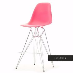 KRZESŁO BAROWE EPS ROD 1 RÓŻOWE Sit Back And Relax, Eames, Chairs, Pink, Furniture, Sweet, Design, Home Decor, Candy