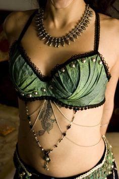Tribal mermaid - Tribal Fusion Bellydance Bra. $100.00, via Etsy.
