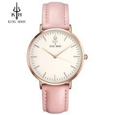 Tribeca Or Rose montre pour femme - bracelet en cuir rose Pink Watch, Cuir Rose, Rose Gold Watches, White Watches, Quartz Watches, Bracelet Cuir, Bracelet Watch, Rose Gold Jewelry, Rose Gold