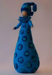 Vrouwen - Wolinhout Diy Tree Topper, Tree Toppers, Wet Felting, Needle Felting, Felt Crafts, Diy And Crafts, Felt Angel, Fairy Land, Felt Dolls
