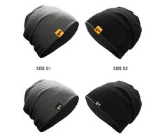 """The beanie """"Reverse"""" reversible beanie comes with a black and a grey side, so you can switch it up whenever you feel like it. Parkour Clothing, Men's Fashion, Baseball Hats, Beanie, Clothes, Black, Products, Moda Masculina, Outfits"""