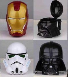 Star Wars Mug Cup Darth Vader Stormtrooper Iron Man Mug Creative Cups And Mugs Coffee Tea Cup Office Home Iron Man, Biscuit, Coffee Equipment, Creative Coffee, Darth Vader, Friendly Plastic, Novelty Mugs, Star Wars Gifts, Tazo