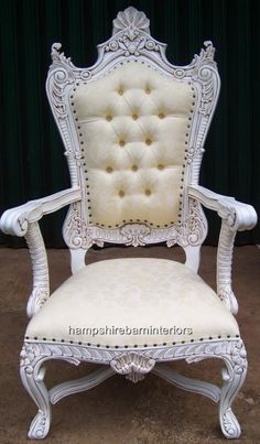 My Bride Chair. Very Alice in Wonderland. King Throne Chair, Queen Chair, King On Throne, Royal Throne, Hampshire, Roman Columns, Home Projects, Accent Chairs, Armchair
