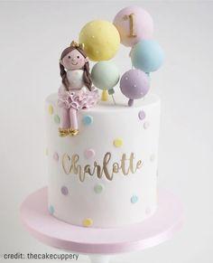 Elegant - Uppercase And Lowercase Letters 1st Birthday Cake For Girls, Baby Birthday Cakes, Baby First Birthday, Cake For Baby Girl, Girl Cakes, Baby Cakes, Bolo Rapunzel, Cake Designs For Kids, Celebration Cakes