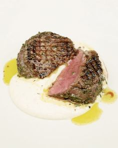 griddled steak with horseradish sauce  cant wait to get the grill hot!