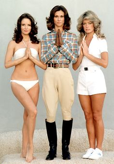 Charlie's Angels: Stars of the original 1976 series starred Jaclyn Smith, Kate Jackson and Farrah Fawcett Kate Jackson, Jaclyn Smith, Bruce Boxleitner, George Peppard, Ray Donovan, Robert Duvall, Patrick Dempsey, Farrah Fawcett, Roger Moore