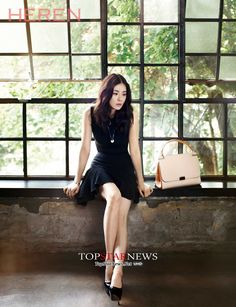 Pictures of Lee Bo Young's photoshoot for HEREN have been revealed. She is pictured in a sexy black dress modeling with goods from the luxury brand Cartier. Korean Girl, Asian Girl, Korean Wave, French Luxury Brands, Lee Bo Young, Yoo Ah In, Young Fashion, Women's Fashion, Work Looks