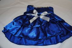 Build a Bear Royal Blue Dress With Silver Bow