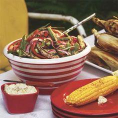Pan-fried Okra, Onion, and Tomatoes | MyRecipes.com