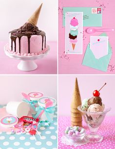 In Honor Of Design: Ice Cream Theme Party! Featuring guest Brittany Egbert of One Charming Party
