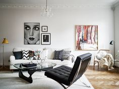 Black & White Done Right in this Stockholm Apartment   Rue