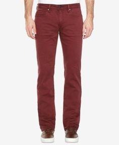 Buffalo David Bitton Men's Six-x Slim-Straight Fit Torpedo Stretch Twill Jeans - Purple 34x32