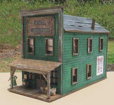O Scale Store ~ Burke's General Merchandise from the TV show Gunsmoke