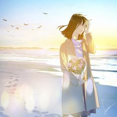 Lovely Girl Image, Japan Painting, Anime Couples Drawings, Pretty Drawings, Fanart, Anime Scenery, Anime Artwork, Anime Art Girl, Aesthetic Art