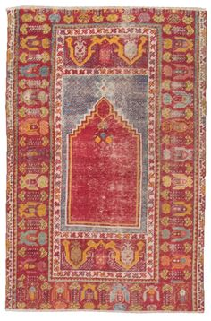 Antique Oushak Rugs (Turkish) Number 19570, Antique Turkish Rugs   Woven Accents