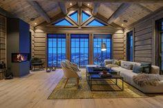 Hafjell - Stor hytte med høy standard under oppføring Chalet Interior, Interior Exterior, Lofts, Mountain Cottage, Winter Cabin, Cabin Interiors, Tiny House Living, Cabin Homes, My Dream Home