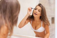 To get the most out of your mascara, stick in your bra for a few minutes to warm it up.