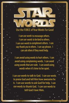 FREE Star Words Poster