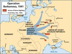 Operation Barbarossa was the name given to Nazi Germany's invasion of the Soviet Union in June 22, 1941. The battle aims of the German forces under the command of Adolf Hitler were the following: the complete annihilation of the Soviet Union's armed forces, the collapse of communism, and primarily the conquest of lebensraum (living space) … pin by Paolo Marzioli