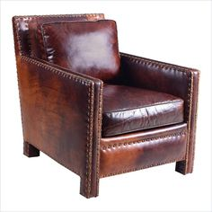 Hooker Furniture Leather Club Chair in Parthenon Temple - CC880-087