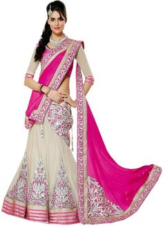 #WithBlousePiece #Lehenga Saree #Sari #Georgette, #Net, #Chiffon, #Jacquard #Pink #Saree #Women #Fashion #style